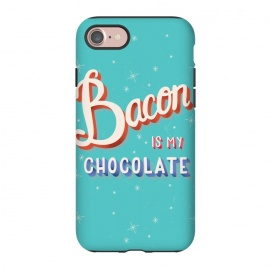 iPhone 8/7  Bacon is my chocolate hand lettering typography modern poster design by Jelena Obradovic