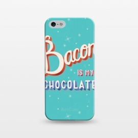 iPhone 5/5E/5s  Bacon is my chocolate hand lettering typography modern poster design by Jelena Obradovic