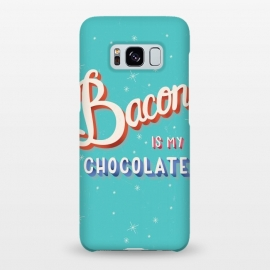 Galaxy S8+  Bacon is my chocolate hand lettering typography modern poster design by Jelena Obradovic