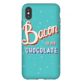 Bacon is my chocolate hand lettering typography modern poster design by Jelena Obradovic