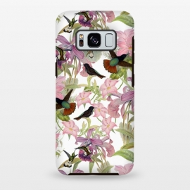 Galaxy S8 plus  Hummingbirds and Tropical Flowers by