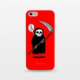 iPhone 5/5E/5s  See You Later! by Mitxel Gonzalez (funny,skull,death,see u later,see ya later,see you later,skulls,cool,lol,lmao,top,ilustracion,illustration)