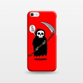 iPhone 5C  See You Later! by Mitxel Gonzalez (funny,skull,death,see u later,see ya later,see you later,skulls,cool,lol,lmao,top,ilustracion,illustration)