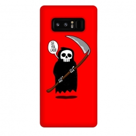 Galaxy Note 8  See You Later! by Mitxel Gonzalez (funny,skull,death,see u later,see ya later,see you later,skulls,cool,lol,lmao,top,ilustracion,illustration)