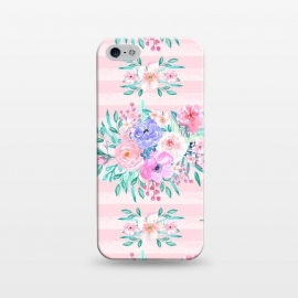 iPhone 5/5E/5s  Beautiful watercolor garden floral paint by InovArts