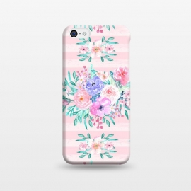 iPhone 5C  Beautiful watercolor garden floral paint by InovArts