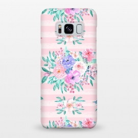 Galaxy S8+  Beautiful watercolor garden floral paint by InovArts