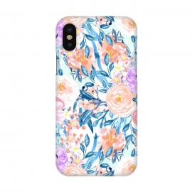 iPhone X  Modern watercolor garden floral paint by