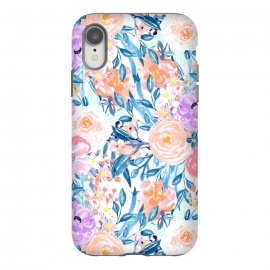 iPhone Xr  Modern watercolor garden floral paint by