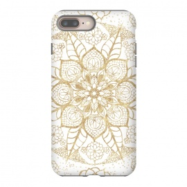 Stylish boho hand drawn golden mandala  by InovArts