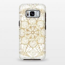 Galaxy S8 plus  Stylish boho hand drawn golden mandala  by