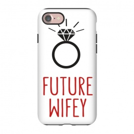 iPhone 8/7  Future Wife Ring by Martina (ring,diamond,wedding,wife,wifey,engagement,modern,graphic,typography)