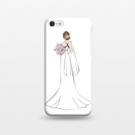 iPhone 5C  Pretty Bride by Martina (wedding,brider,wife,woman,dress,engagement,flowers,illustration)