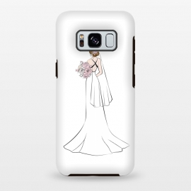 Galaxy S8+  Pretty Bride by Martina (wedding,brider,wife,woman,dress,engagement,flowers,illustration)