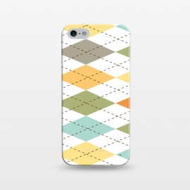iPhone 5/5E/5s  Modern diamond pattern by Martina (modern,graphic,geometric,pattern,diamond,colorful,autumn)
