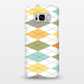 Galaxy S8+  Modern diamond pattern by Martina (modern,graphic,geometric,pattern,diamond,colorful,autumn)