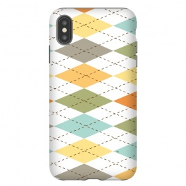 iPhone Xs Max  Modern diamond pattern by Martina (modern,graphic,geometric,pattern,diamond,colorful,autumn)