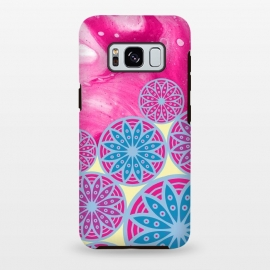 Galaxy S8 plus  Pink With Background in Mandalas by