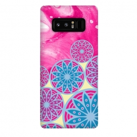 Galaxy Note 8  Pink With Background in Mandalas by Rossy Villarreal