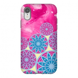 iPhone Xr  Pink With Background in Mandalas by Rossy Villarreal
