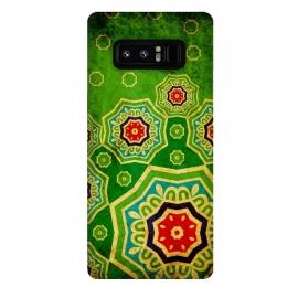 Galaxy Note 8  Mandalas in Bright Green Tones by