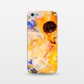 iPhone 5/5E/5s  Yellow Vintage Rose by Creativeaxle