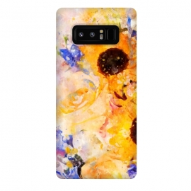 Galaxy Note 8  Yellow Vintage Rose by Creativeaxle