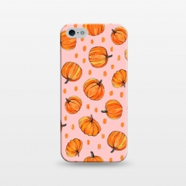 iPhone 5/5E/5s  Little Gouache Pumpkins with Dots on Pink by Micklyn Le Feuvre