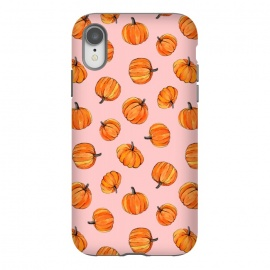 iPhone Xr  Tiny Pumpkin Polka Dots on Pink by Micklyn Le Feuvre