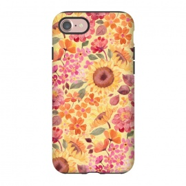 iPhone 8/7  Happy Boho Autumn Floral  by Micklyn Le Feuvre