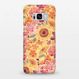 Galaxy S8+  Happy Boho Autumn Floral  by Micklyn Le Feuvre