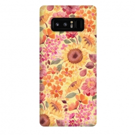 Galaxy Note 8  Happy Boho Autumn Floral  by Micklyn Le Feuvre