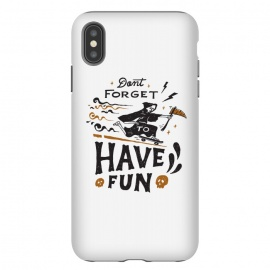 iPhone Xs Max  Have Fun by Tatak Waskitho (funny, skate,lettering,type,typo,skull)
