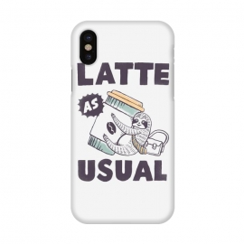 iPhone X  Latte as usual by Tatak Waskitho