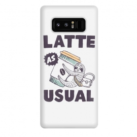 Galaxy Note 8  Latte as usual by Tatak Waskitho (sloth,animals,funny,humor,coffee,quote,quotes)