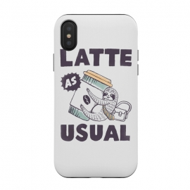 Latte as usual by Tatak Waskitho (sloth,animals,funny,humor,coffee,quote,quotes)