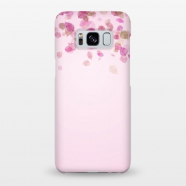 Galaxy S8+  Leaves are falling on pink by Utart