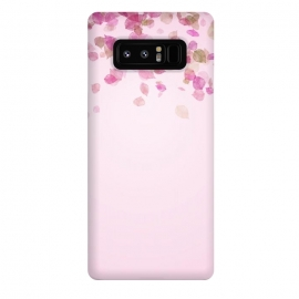 Galaxy Note 8  Leaves are falling on pink by Utart