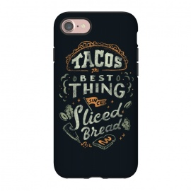 iPhone 8/7  Tacos by Tatak Waskitho (funny,humor,food,taco,tacos,mexico,lettering,typography,quote,quotes)