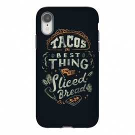 iPhone Xr  Tacos by Tatak Waskitho (funny,humor,food,taco,tacos,mexico,lettering,typography,quote,quotes)