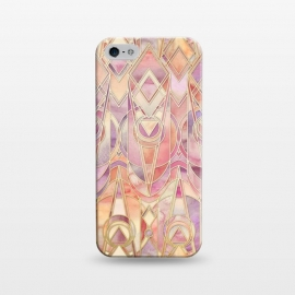 iPhone 5/5E/5s  Autumn Peach and Amethyst Art Deco Pattern by Micklyn Le Feuvre
