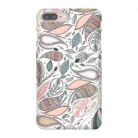 iPhone 8/7 plus  Paisley  by  (paisley,nature,leaves,floral,flowers,pattern)
