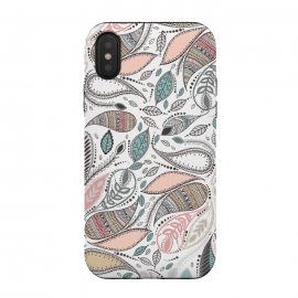 iPhone Xs / X  Paisley  by Rose Halsey (paisley,nature,leaves,floral,flowers,pattern)