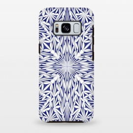 Galaxy S8 plus  Blue white oriental foliage mandala by
