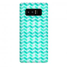 Galaxy Note 8  blue zig zag pattern by