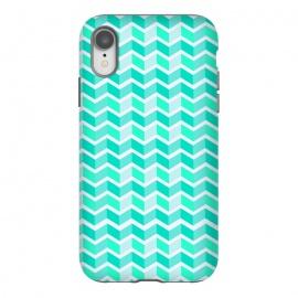 iPhone Xr  blue zig zag pattern by