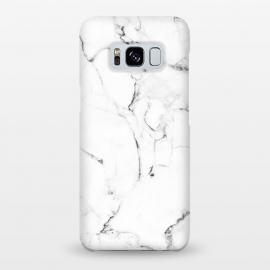 Galaxy S8+  Marble Addiction by Uma Prabhakar Gokhale (graphic design, pattern, vector, digital manipulation, marble, white marble, nature, black and white, exotic, tropical, fashion, trends, style)