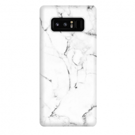 Galaxy Note 8  Marble Addiction by  (graphic design, pattern, vector, digital manipulation, marble, white marble, nature, black and white, exotic, tropical, fashion, trends, style)