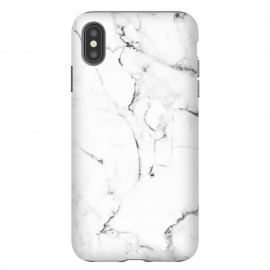 iPhone Xs Max  Marble Addiction by Uma Prabhakar Gokhale (graphic design, pattern, vector, digital manipulation, marble, white marble, nature, black and white, exotic, tropical, fashion, trends, style)