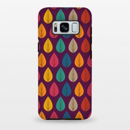 Galaxy S8 plus  multicolour stylish leaves by